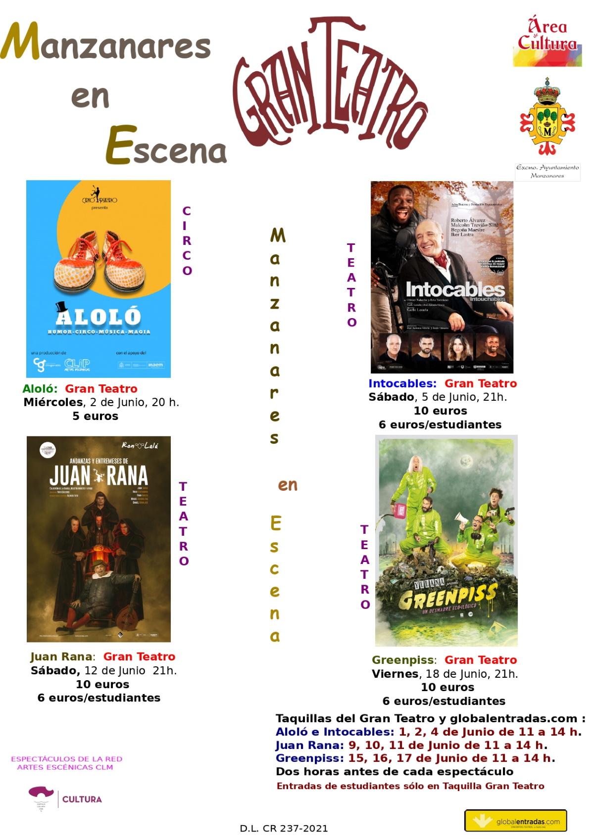 Vuelve la actividad teatral a Manzanares con un atractivo cartel